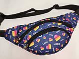 Сумка на пояс LIKEE Ткань Принт спортивные барсетки сумка только опт, фото 2