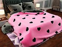 Двуспальный набор постельного белья Черешенка №157465AB 180х220 Бязь Gold Розовый (BC2G157465AB)