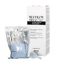 Безаммиачный осветляющий порошок с кератином Be Hair Be Color Deco Blue Bleaching Powder 1000г (2x500г)