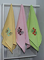 Набор полотенец Цветы в ассорт. (12 шт), фото 1