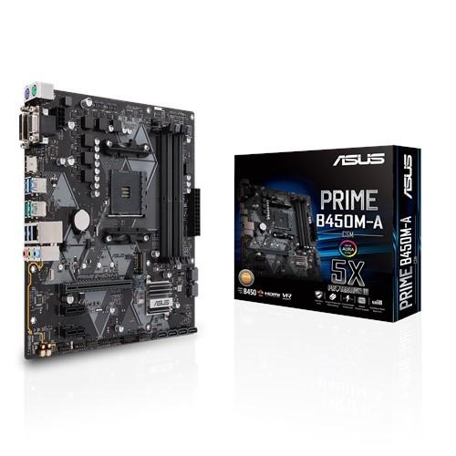 Материнская плата Asus Prime B450M-A/CSM Socket AM4