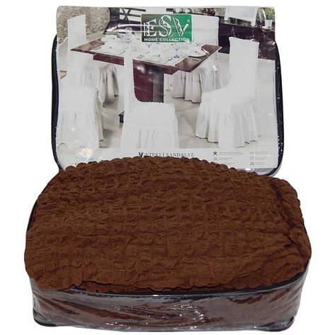 Набір чохлів на стільці 6шт. шоколадний, фото 2