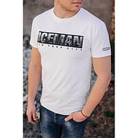 Дизайнерская белая футболка Ice Man - №6072