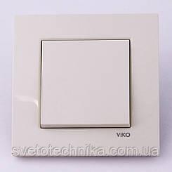 Выключатель одноклавишный VI-KO Karre скрытой установки (белый)