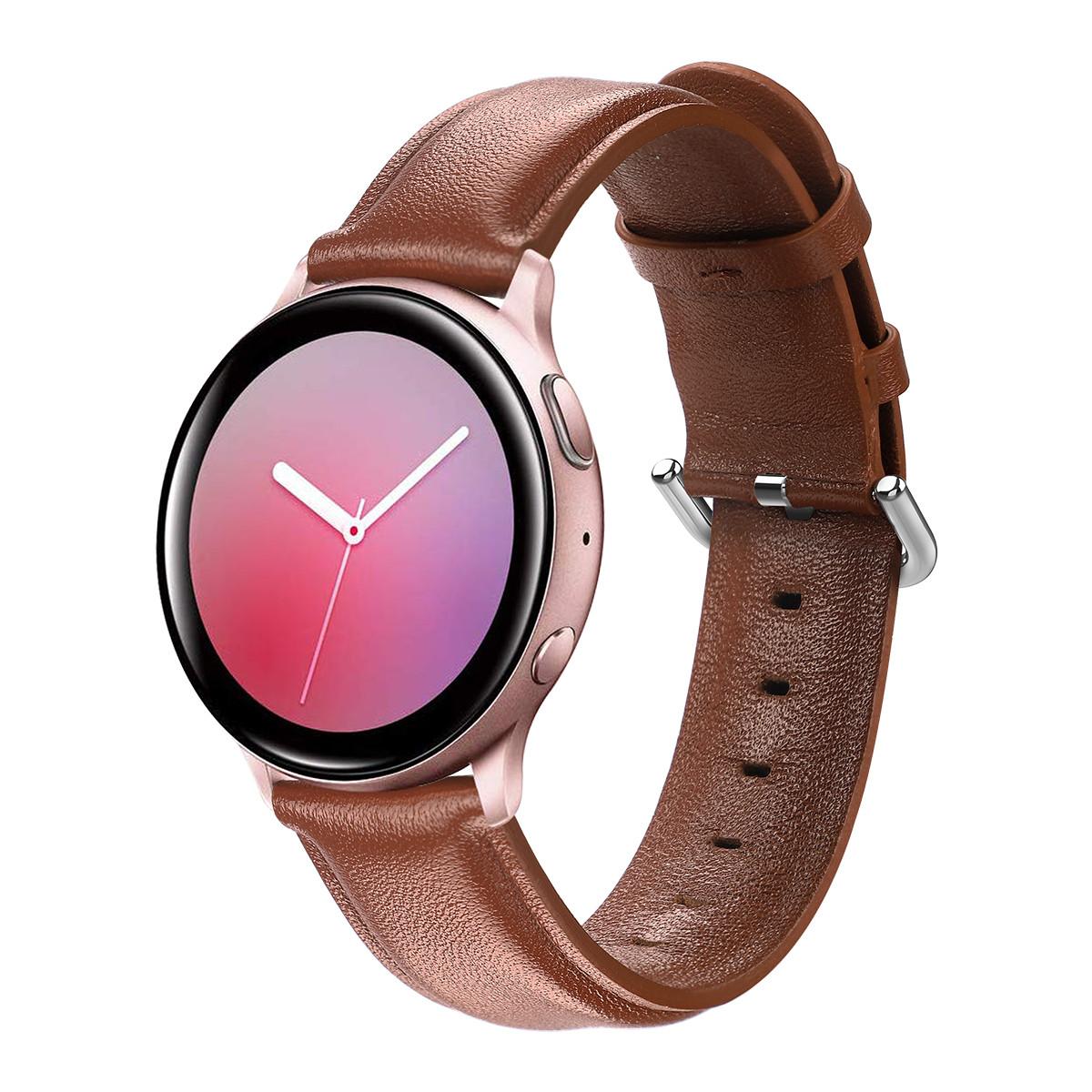 Ремешок кожаный 20мм BeWatch для Samsung Active | Active 2 | Galaxy watch 42mm S Коричневый