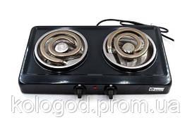 Настільна Електроплита Domotec MS-5532 Black Конфорки З Широкими Тенами