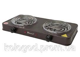 Плита Настільна Електрична Спіральна Domotec MS-5802 На 2 Конфорки