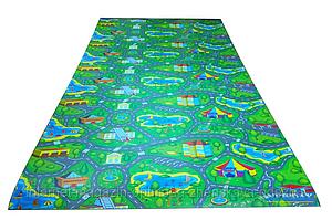 Детский коврик 2500х1100х8мм, «Городок», теплоизоляционный, развивающий, игровой коврик