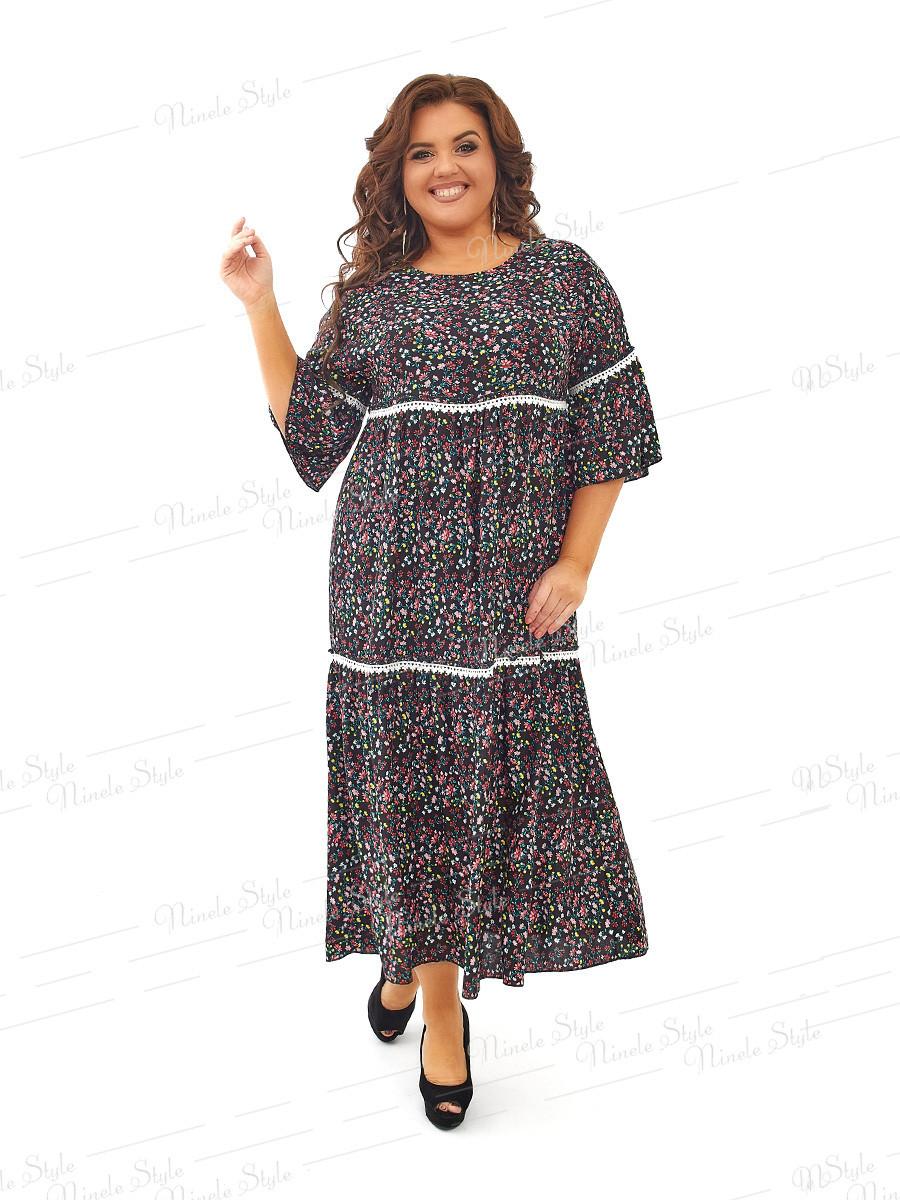 Платье в стиле бохо из штапеля  453-2 54