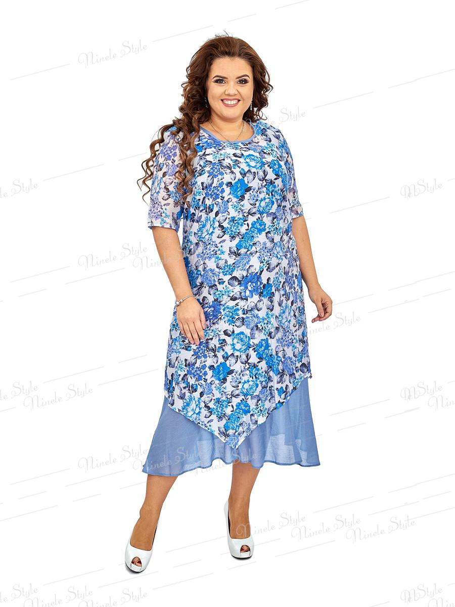 Нарядное платье из натуральной ткани 455-1 56