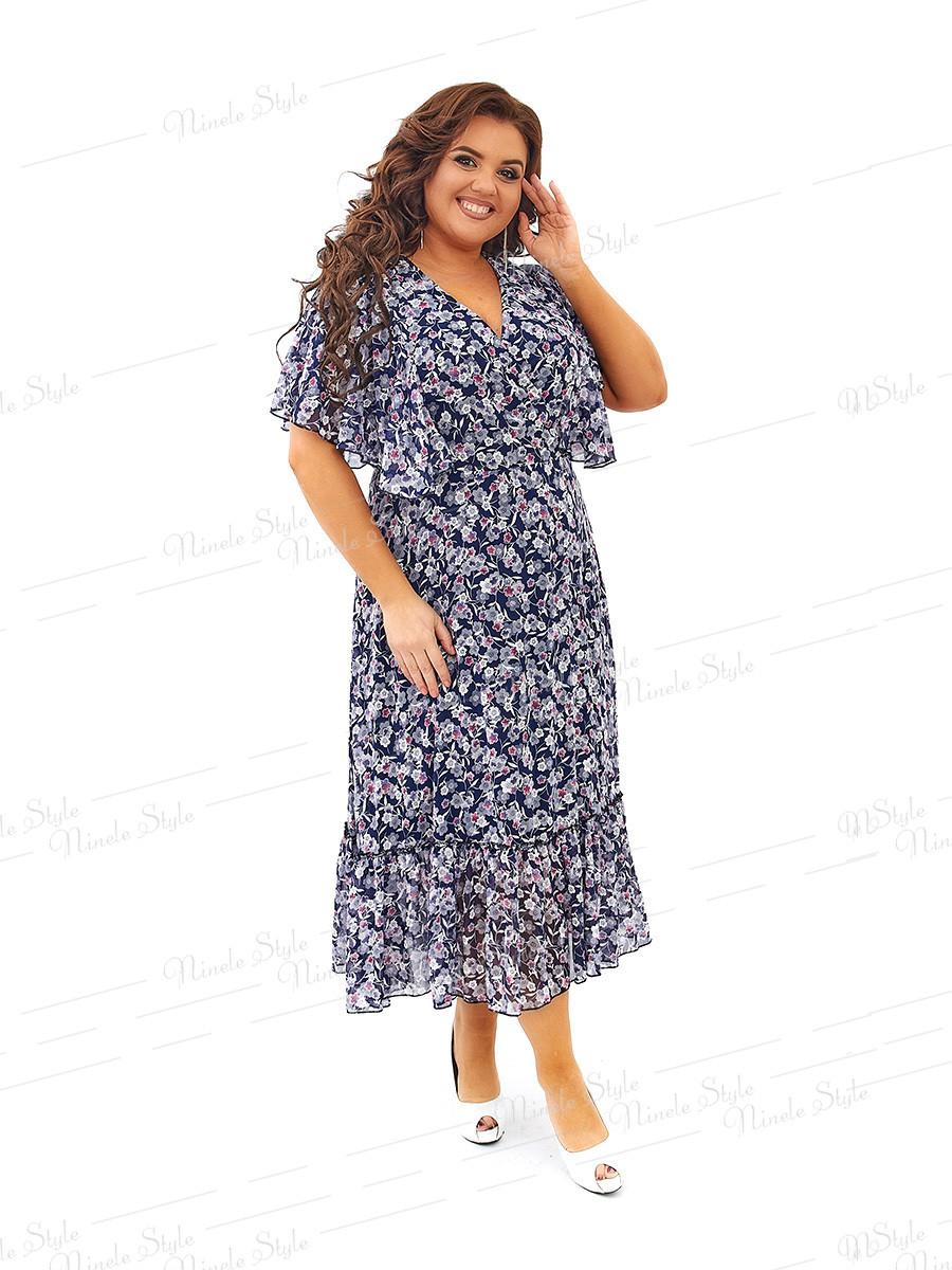 Шифоновое нарядное платье 452 54