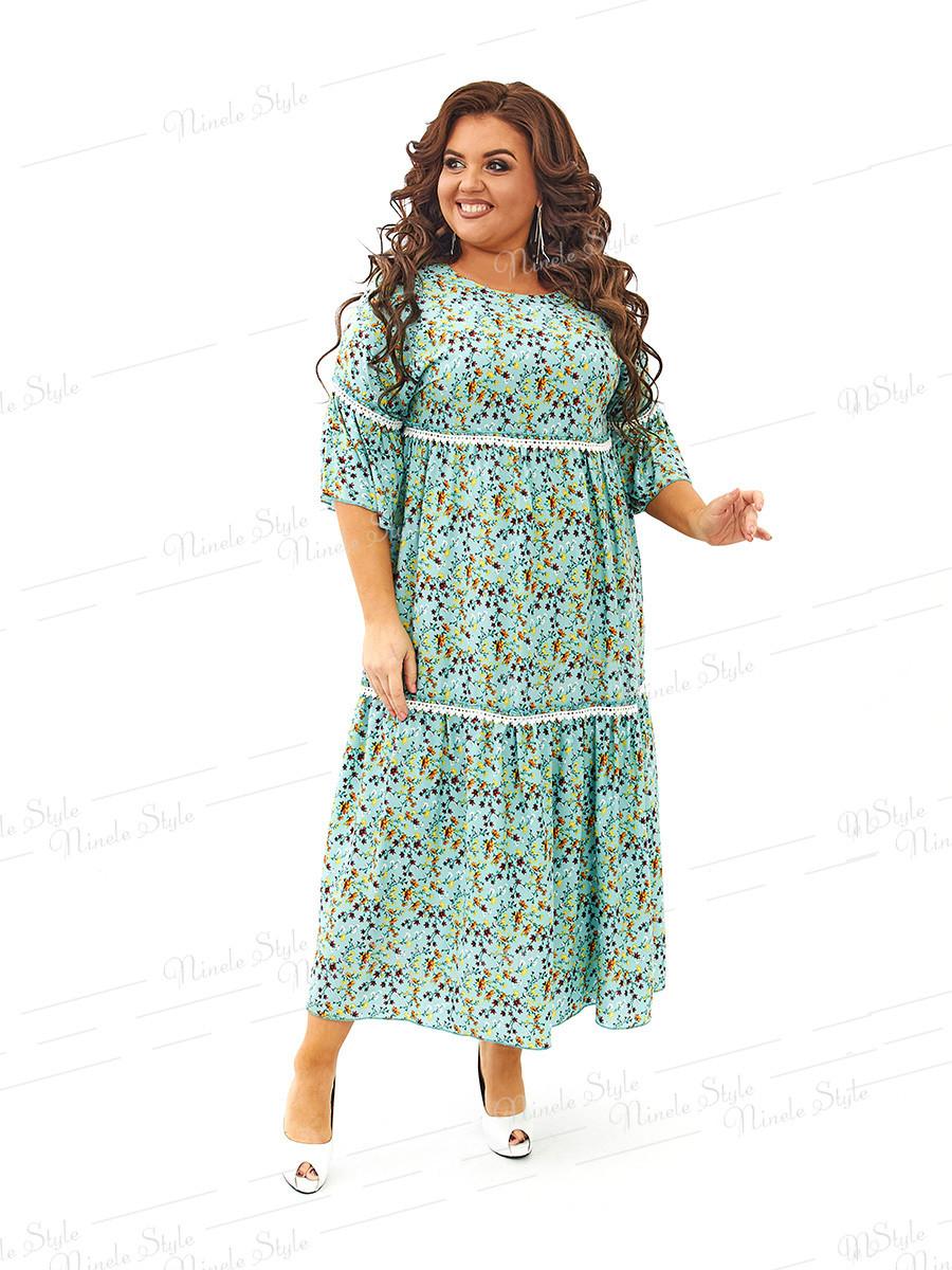 Платье в стиле бохо  из штапеля 453 54