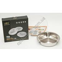 255505 (Ланч бокс DINNER PLATE  для еды на 3 раздела с нержевейки)