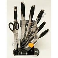 11681 (Набор хороших ножей на подставке  5шт +муссат +ножницы)