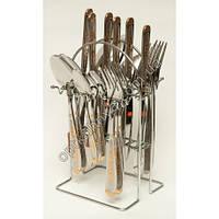 12192 ( Набор столовых приборов на подставке (ложка, вилка, чайная ложна, нож по 6 шт.))