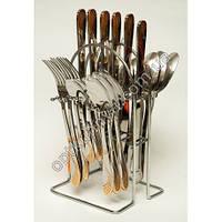 12562 ( Набор столовых приборов на подставке (ложка, вилка, чайная ложна, нож по 6 шт.))