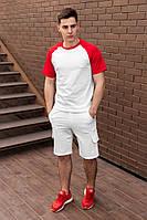 Мужской комплект шорты + футболка. Яркий летний мужской костюм футболка +шорты.