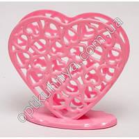 24482 ( підставка для серветок пластик у вигляді сердечка)