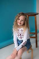 Трикотажна футболка для дівчинки довгий рукав Орнамент