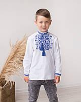 Дитяча вишиванка для хлопчика Зірка біла