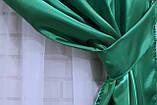 Шторы из атласа зеленые, фото 2