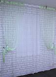 """Декоративний комплект комбінація зі шторами-нитками """"Серпанок"""" 3,м*2,5 м. Код 029дк (109-033) е809, фото 2"""