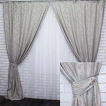 """Комплект готових штор з тканини льон колекція """"Корона"""" Код 419ш"""