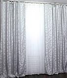 """Ткань лен """"Вензель"""".Высота 2.8м. Цвет светло-серый. 534ш., фото 5"""