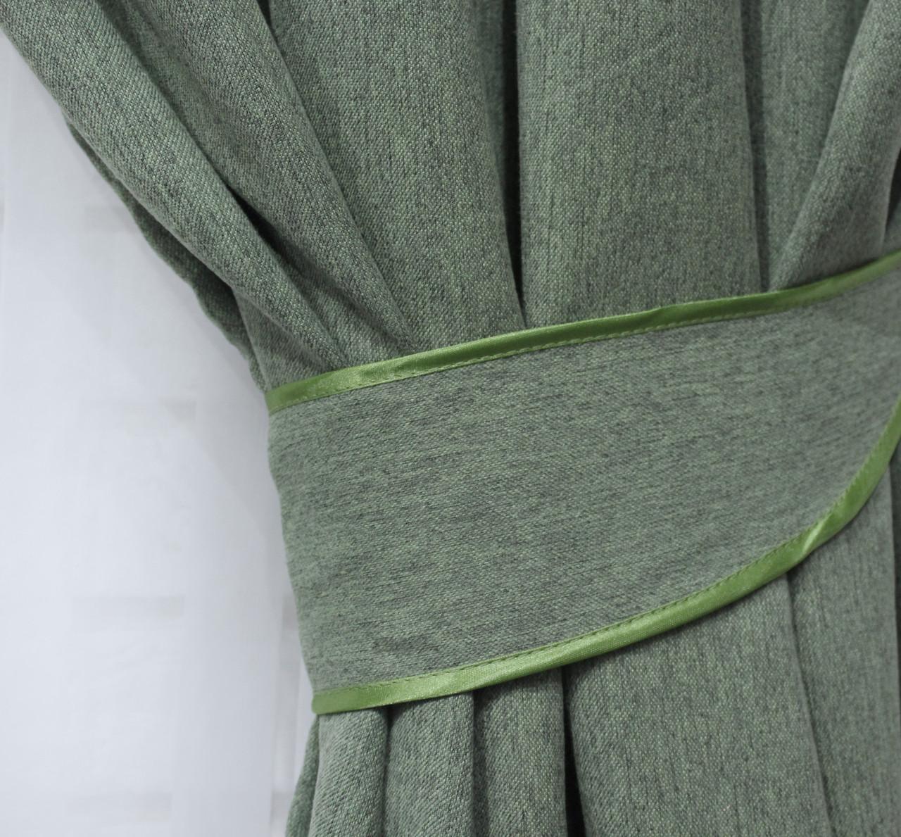 """Светонепроницаемая ткань блэкаут """"Амели"""" Высота 2.7м. Цвет зеленый 548ш"""