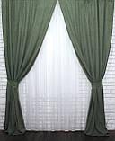 """Светонепроницаемая ткань блэкаут """"Амели"""" Высота 2.7м. Цвет зеленый 548ш, фото 3"""
