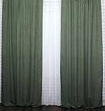 """Светонепроницаемая ткань блэкаут """"Амели"""" Высота 2.7м. Цвет зеленый 548ш, фото 4"""