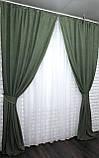"""Светонепроницаемая ткань блэкаут """"Амели"""" Высота 2.7м. Цвет зеленый 548ш, фото 5"""