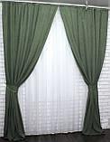 """Светонепроницаемая ткань блэкаут """"Амели"""" Высота 2.7м. Цвет зеленый 548ш, фото 6"""