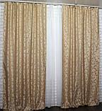 """Ткань лен """"Вензель"""" Высота 2.7м. Цвет оранжевый 543ш, фото 5"""