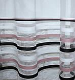 Тюль фатин полоса,(3х2,5) цвет пудра и чорный. Код 522т 40-179, фото 2