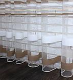 Тюль фатин полоса,(3х2,5) цвет хаки. Код 524т 40-180, фото 3