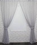 Комплект декоративных штор из шифона серый, фото 2
