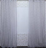 Комплект декоративных штор из шифона серый, фото 4