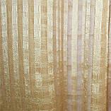 Комплект декоративних штор з льону, колір золотистий з шоколадним. 006дк е817(323-326), фото 3