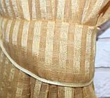 Комплект декоративних штор з льону, колір золотистий з шоколадним. 006дк е817(323-326), фото 4