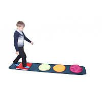 Детский игровой Коврик Сенсорная дорожка Пешеход для детей от 1 года для развивающих центров 200х40х1 см