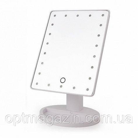 Дзеркало для макіяжу Mirror LED \ Дзеркало квадратне з підсвічуванням, фото 2