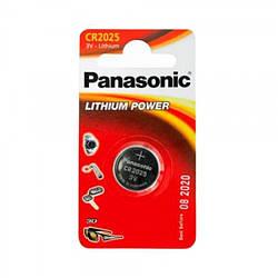 Батарейка таблетка CR2025 Panasonic Lithium блістер (6шт)