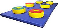 Детская игровая Дорожка Фигурка из 3 частей с шайбами для проведения развивающих занятий с детьми 200х100х5 см