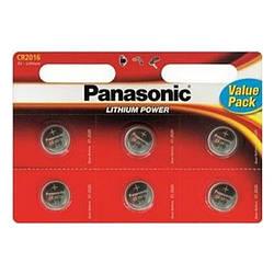 Батарейка таблетка CR2016 Panasonic блістер (6шт)