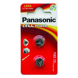 Батарейка таблетка Panasonic LR44 блістер (2 шт)