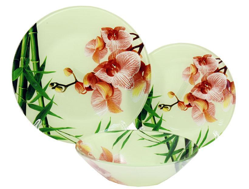 Сервиз столовый 18 пр Орхидея Pink Lumines S-3000-18-S-074