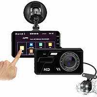 Автомобильный видеорегистратор BlackBox A11B сенсорный дисплей 2 камеры Черный