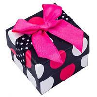 """Подарочная коробочка для кольца """"Горошек"""""""