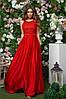 Вечірній червоне жіноче плаття в підлогу ЇМ/-328